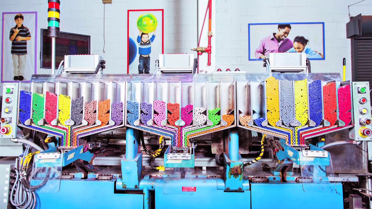 a behind the scenes look at the crayola factory that produces 12