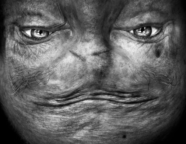 Upside-Down Photos of Human Faces That Look Like Aliens
