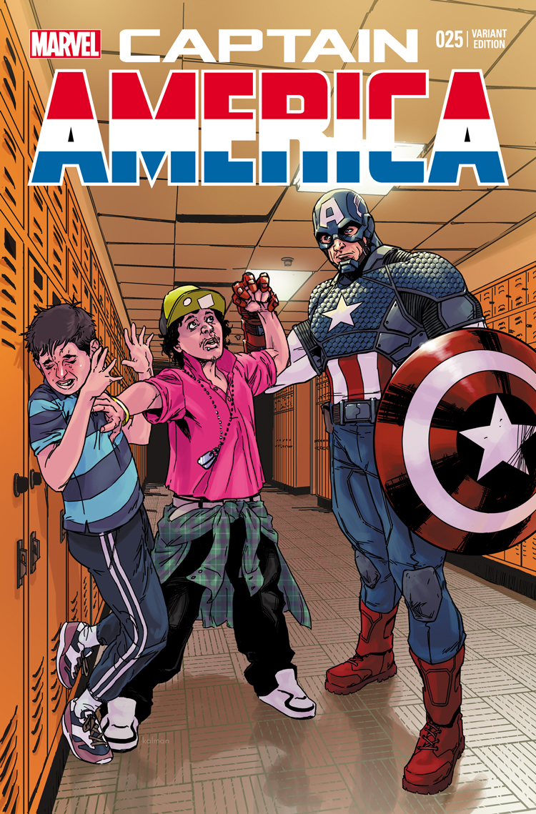 Captain America (2012) #25 variant cover by Kalman Andrasofszky