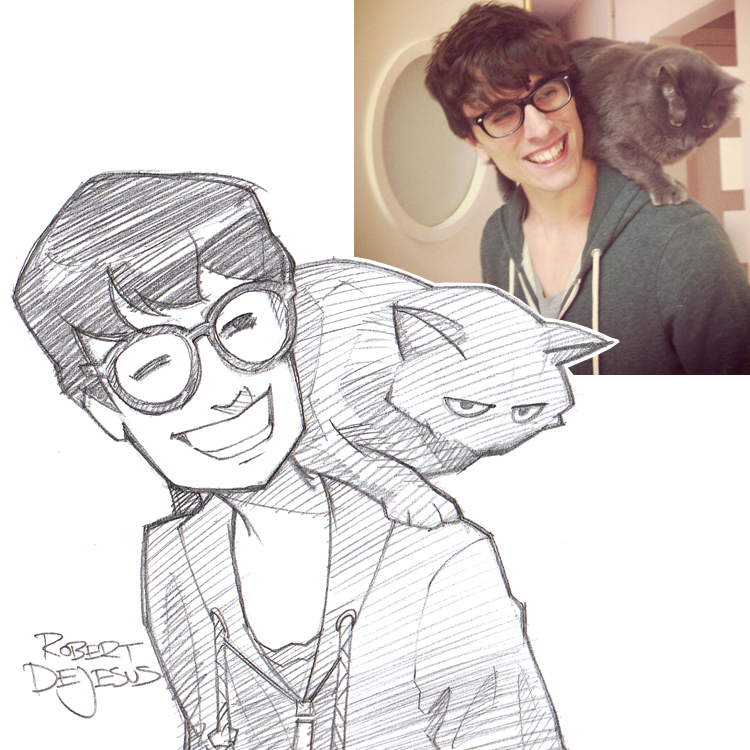 Anime and Disney Portrait Drawings by Robert DeJesus