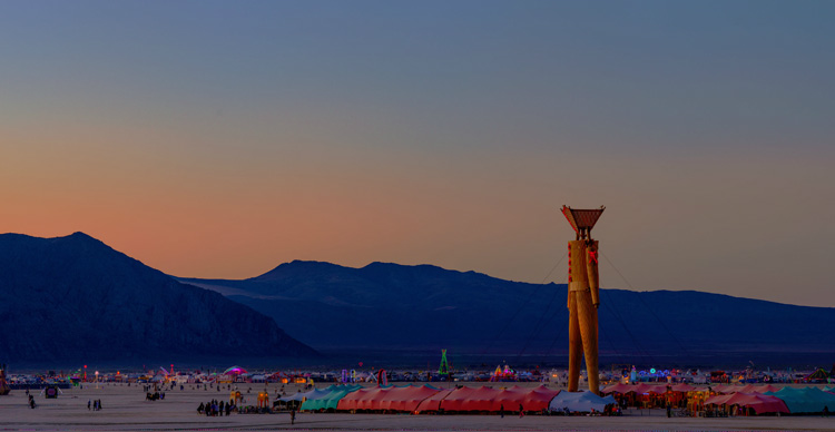 Gigapixel Panorama of Burning Man 2014 by Michael Holden