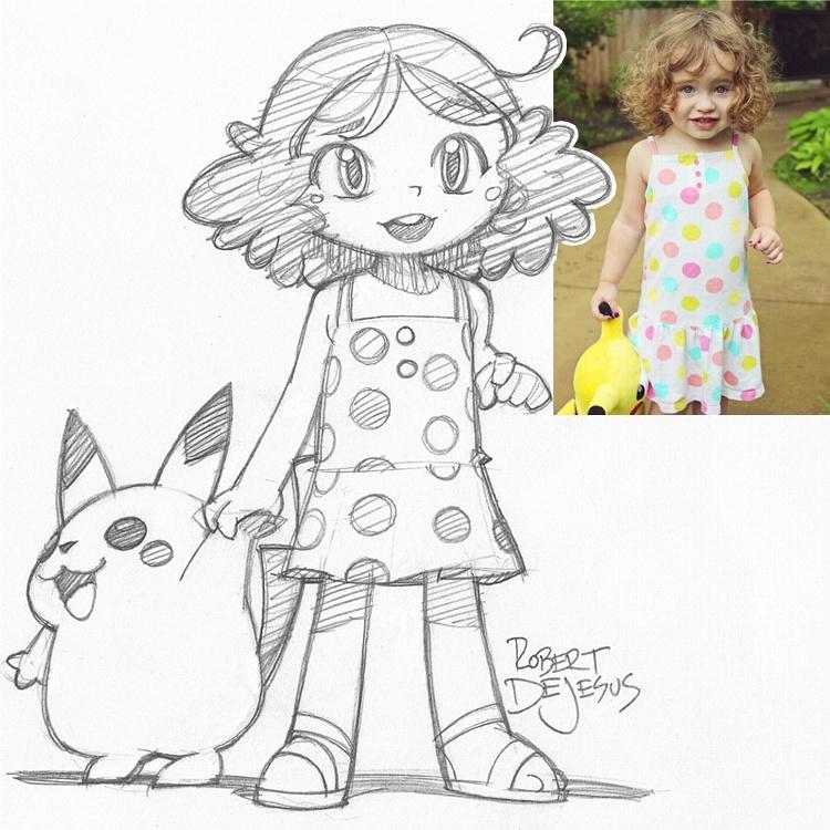 Anime and Disney Portrait Drawings by Robert DeJesus