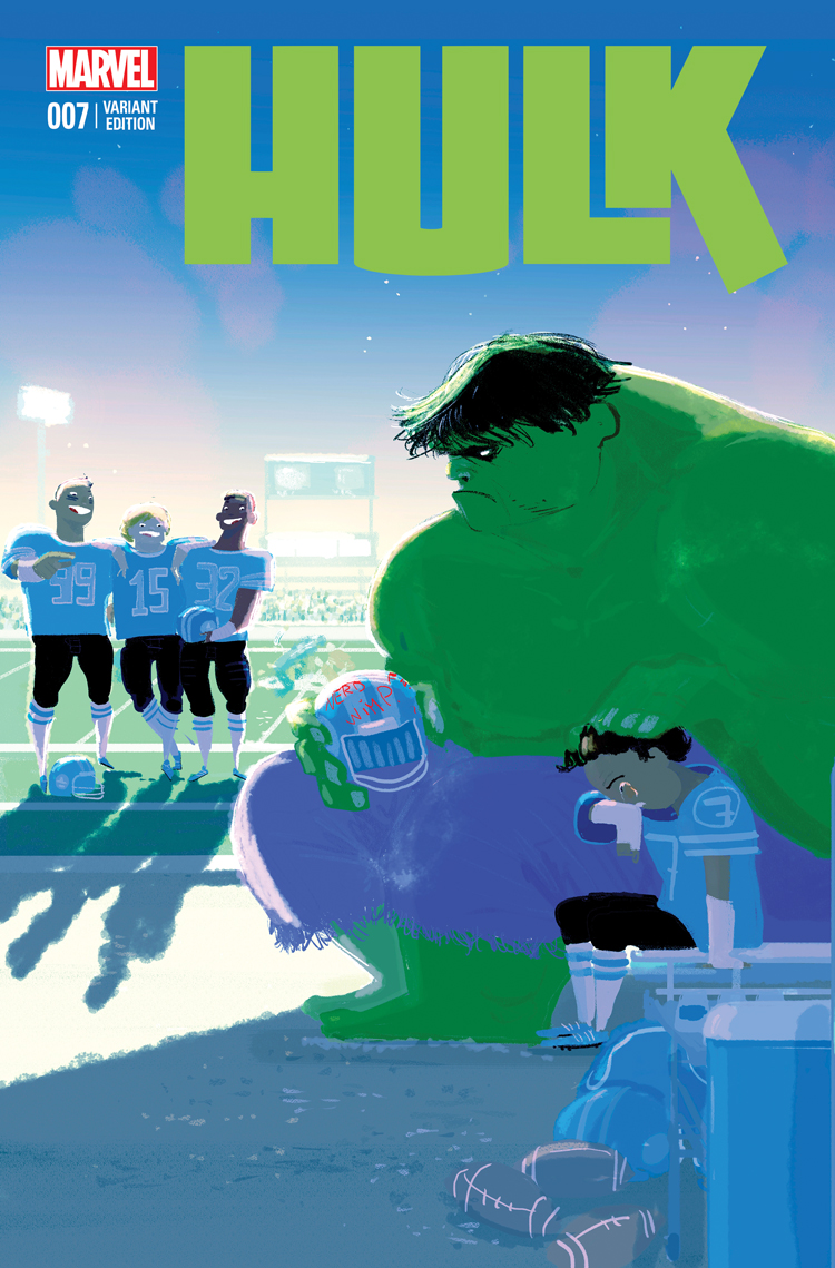 Hulk (2014) #7 variant cover by Pascal Campion