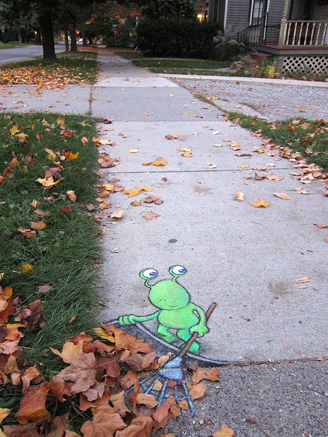 Adorable Character Street Art by David Zinn
