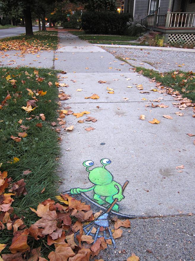 Adorable Character Street Art by David Zinn