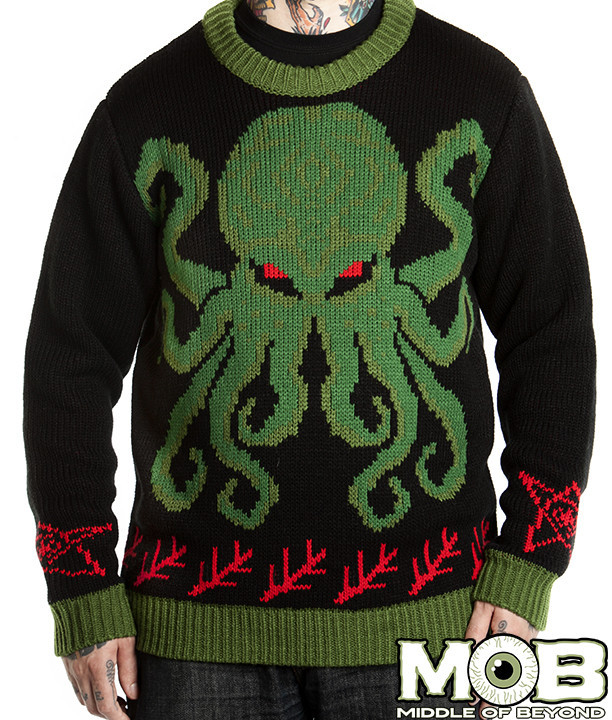 Cthulhu Krampus And Bigfoot Sweaters And Rugs By Middle