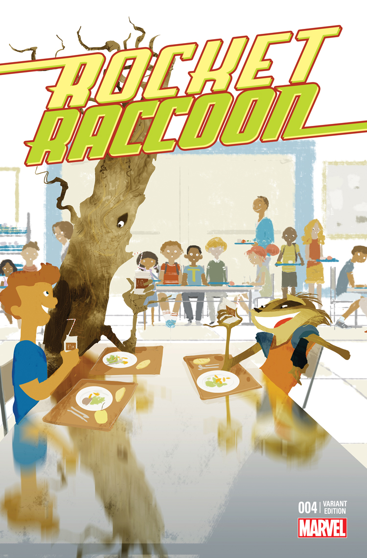 Rocket Raccoon (2014) #4 variant cover by Pascal Campion