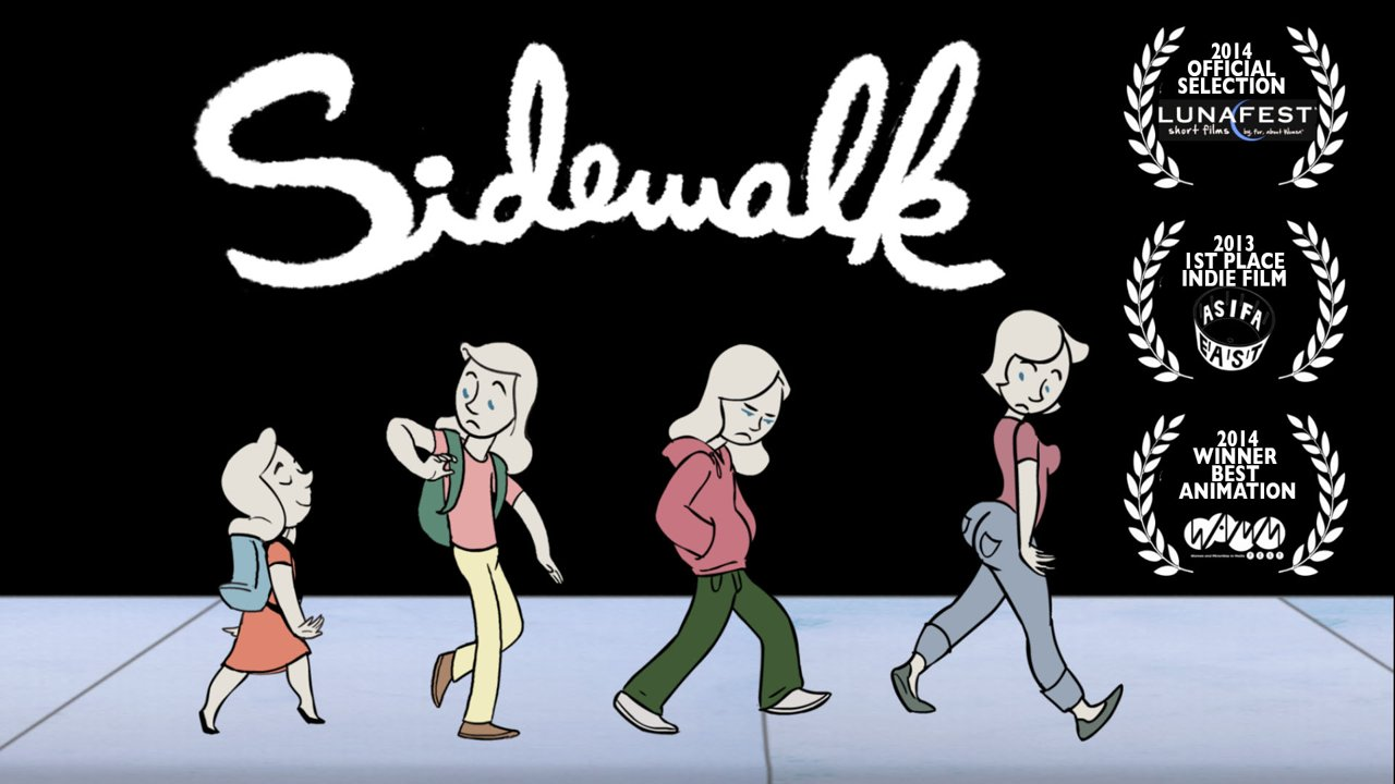Sidewalk, An Animated Short About a Woman's Journey to Body Acceptance Through the Passage of Time