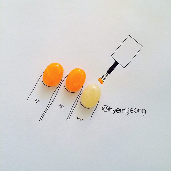 Adorable Illustrations Made With Everyday Objects by Hyemi Jeong