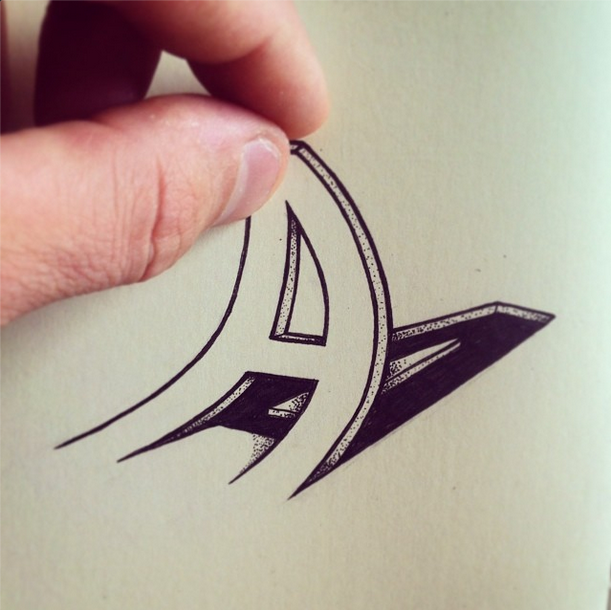 Distorted and 3D Illusion Type Illustrations by Rylsee