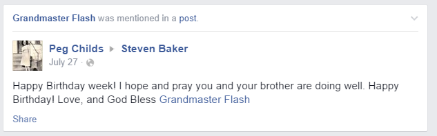 Grandmas keep accidentally tagging themselves as Grandmaster Flash