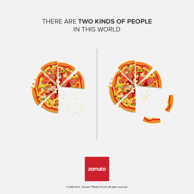 Clever Food Infographics On The Theme Of There Are Two Kinds People In This World