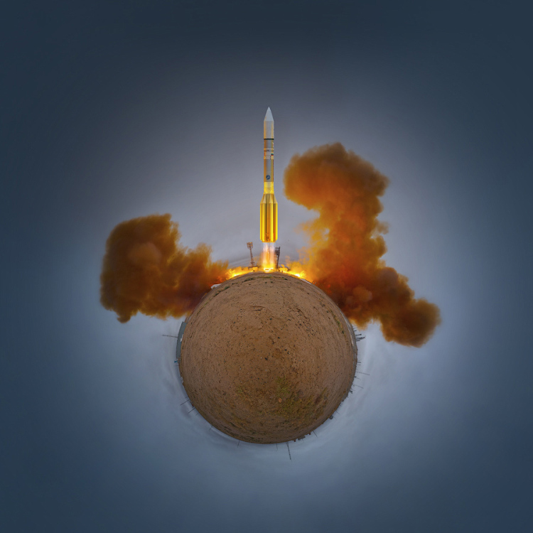 Little Planet Panoramas of Baikonur Cosmodrome
