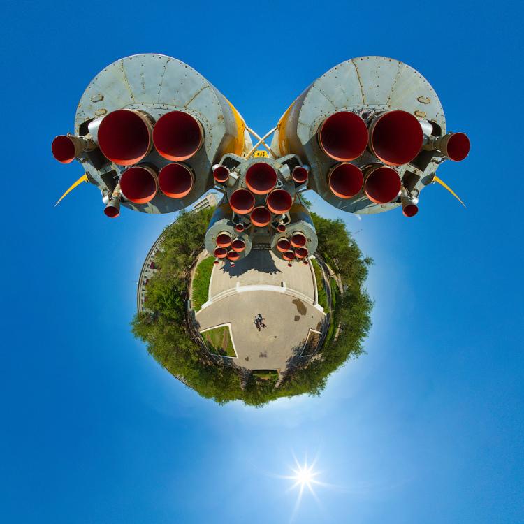 Little Planet Panoramas of Baikonur Cosmodrome