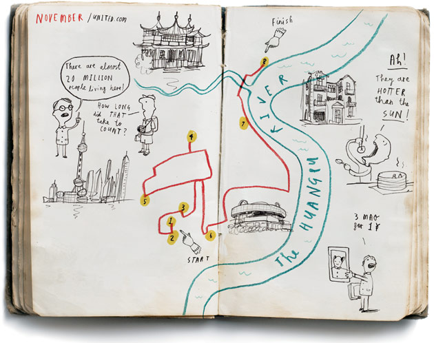 Hand-Drawn City Maps by Oliver Jeffers