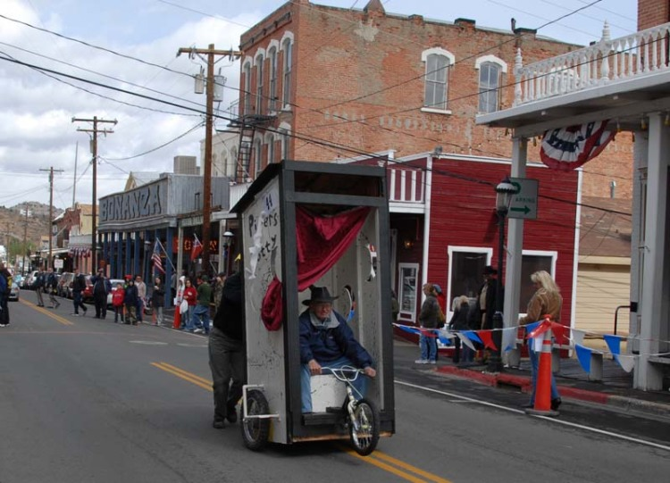 The World Championship Outhouse Races in Virginia City