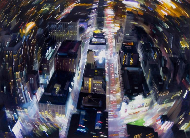 Distorted Paintings of Urban Nightlife by Alexandra Pacula