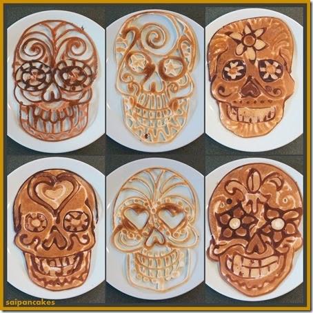 Skull pancakes