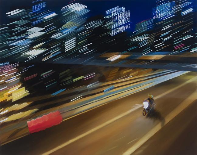 Paintings of Urban Nightlife by Alexandra Pacula