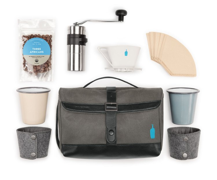 Timbuk2 x Blue Bottle Travel Kit, A Coffee-Making Kit That Fits in a Travel Bag