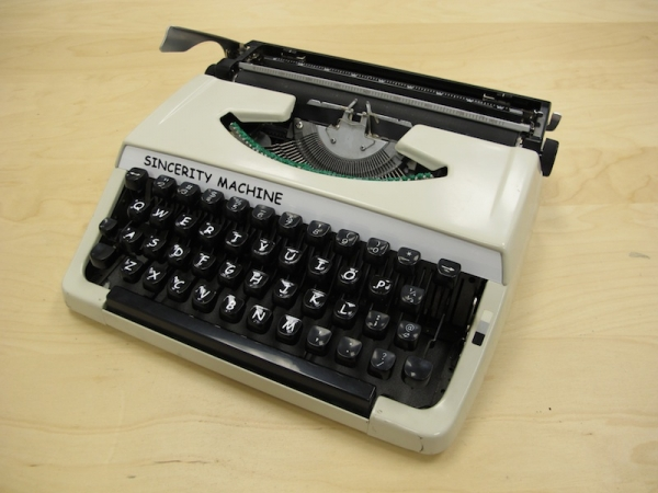 Sincerity Machine, A Manual Typewriter That Types in Comic Sans