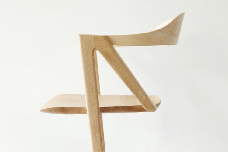 Two-Legged Chair by Benoit Malta