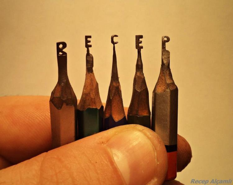 Pencil Tip Sculptures by Recep Alcamli