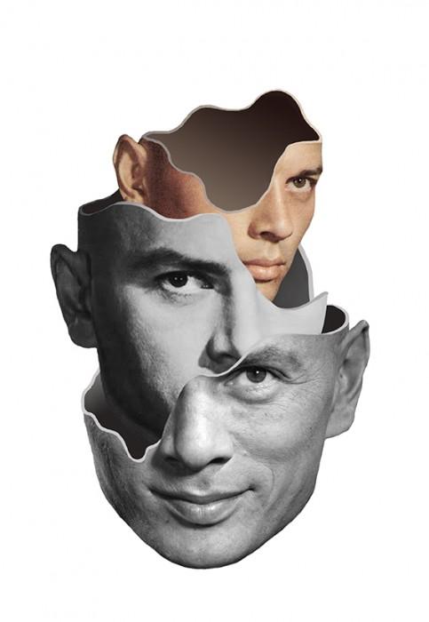 Face Collages by Matthieu Bourel