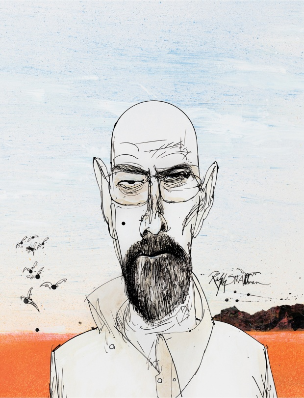 A Limited Edition of Stylized 'Breaking Bad' Blu-ray Cases Illustrated by Ralph Steadman