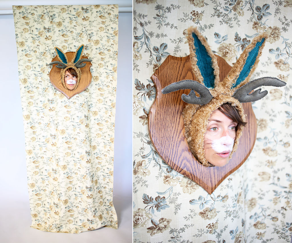 How to Make a Spectacular Wall-Mounted Jackalope Costume for Halloween