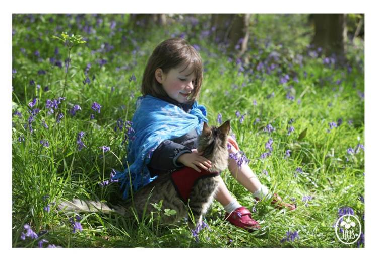 Iris and Thula in Bluebell Wood