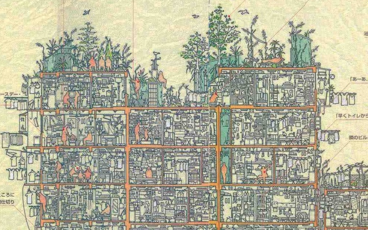 A Cross-Section of Kowloon Walled City