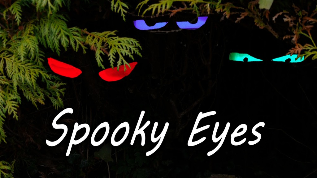 A Quick, Easy Way to Make Spooky Glowing Eyes for Halloween