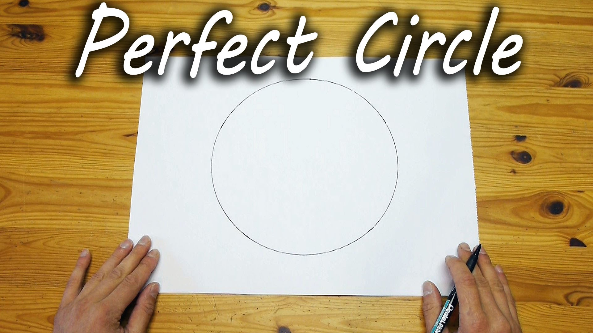 A Simple Technique for Drawing Perfect Freehand Circles