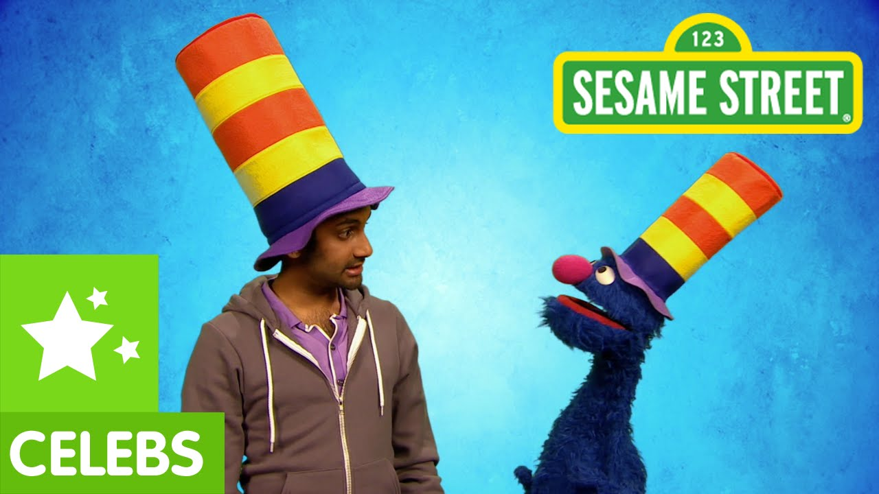 Aziz Ansari and Grover Wear Chicken Suits and Stovepipe Hats to Teach Kids the Word 'Ridiculous' on 'Sesame Street'