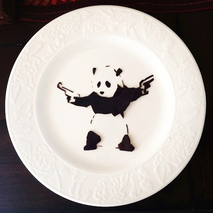 Banksy Food Art by Harley Langberg