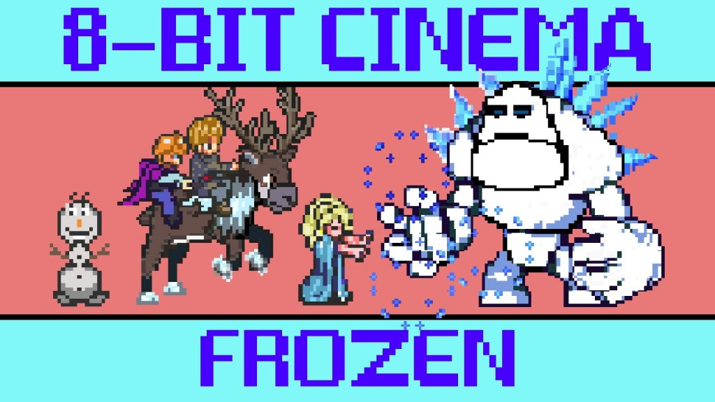 Disney's 2013 Animated Film 'Frozen' Retold as an 8-Bit Animated Video Game