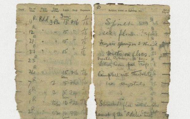 Levick Notebook Found in Antarctica