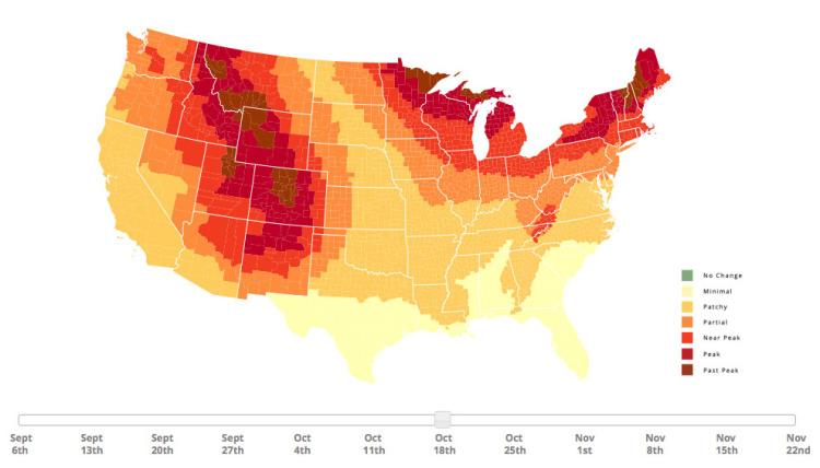 2014 Fall Foliage Map