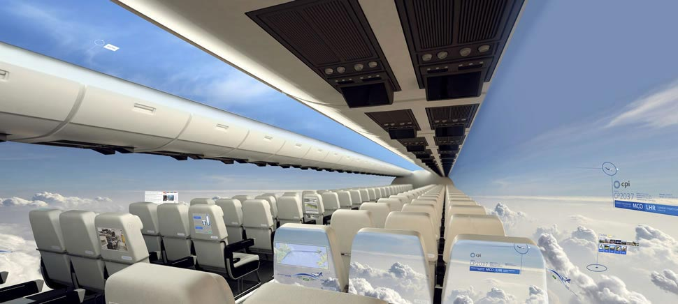 A Windowless Aircraft Concept That Features High Definition Displays Instead of Passenger Windows