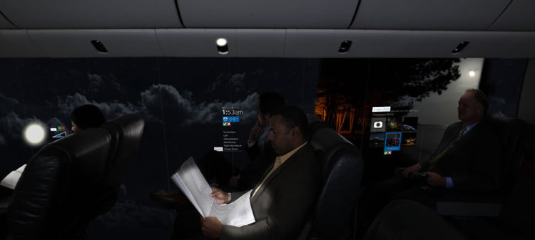 Windowless Aircraft Concept