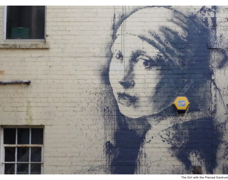 Girl with a Pierced Eardrum by Banksy