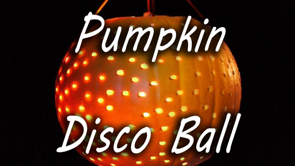 How to Make a Disco Ball Out of a Pumpkin