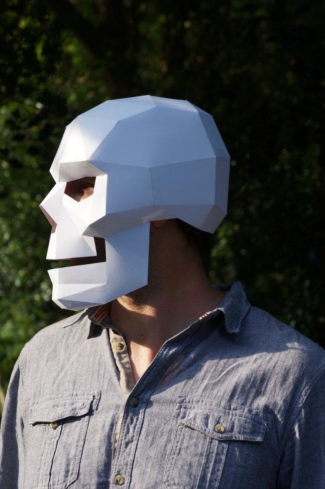 Polygonal Skull Mask by Steve Wintercroft