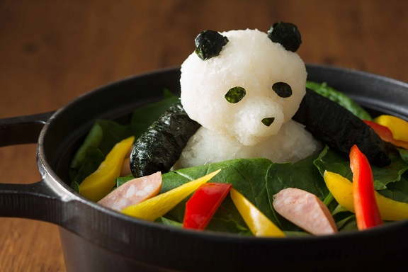 Daikon Radish Sculpture of a Panda