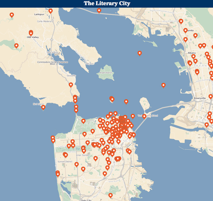 Literary City San Francisco Map