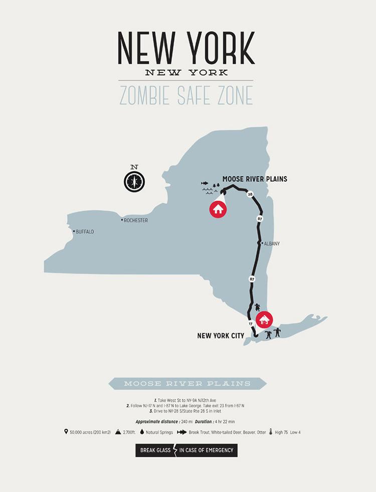 ZOMBIE SAFE ZONE - NEW YORK MAP