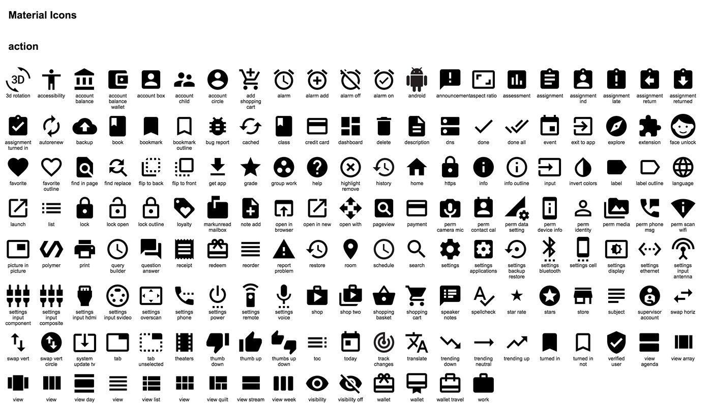 Google Releases Hundreds of Material Design Icons on GitHub