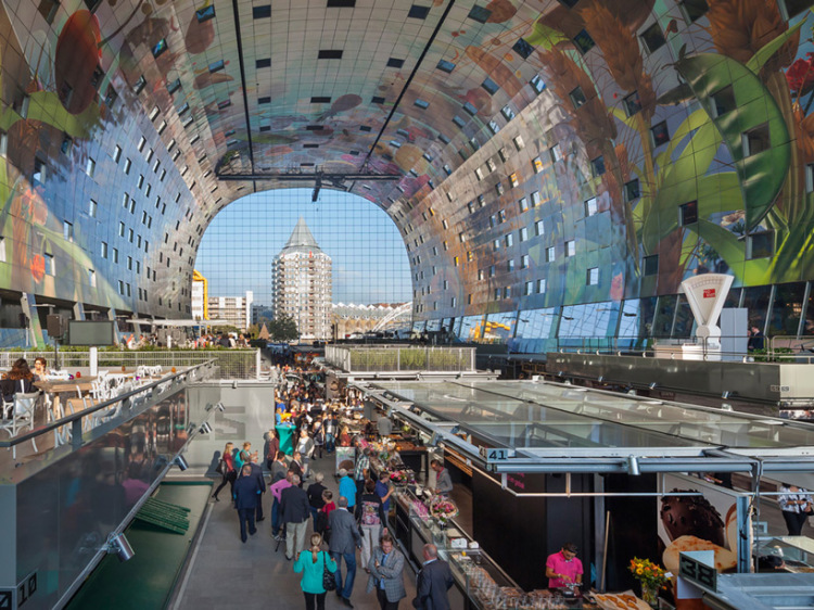 Markthal Indoor Market in Rotterdam