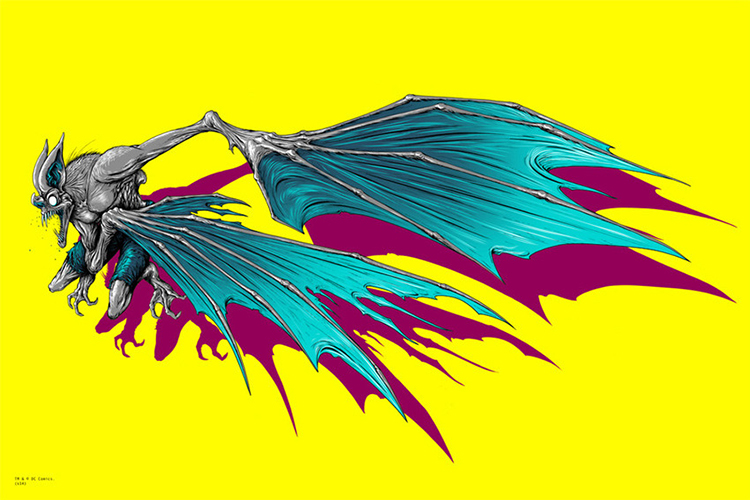 Batman / Man Bat by Alex Pardee